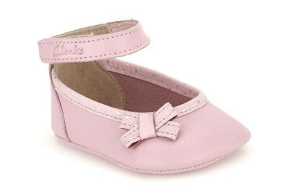 Clarks Babyharper Sml Baby Pink Leather Girls Shoes