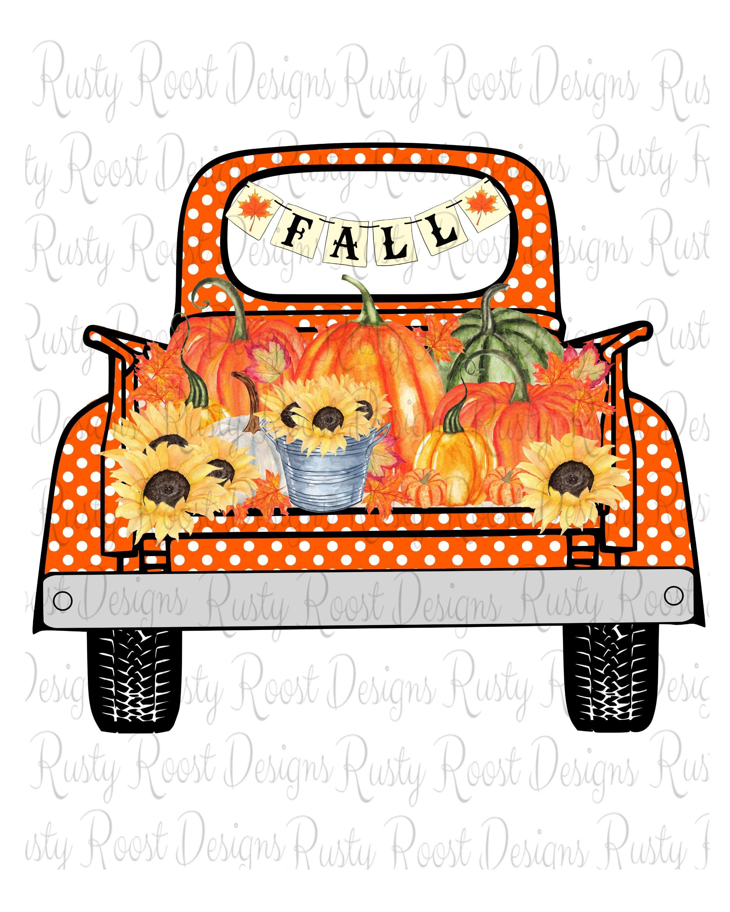 Bleached Sublimation T Shirt Fall Truck Pumpkins Plaid Happy Fall Y/'all