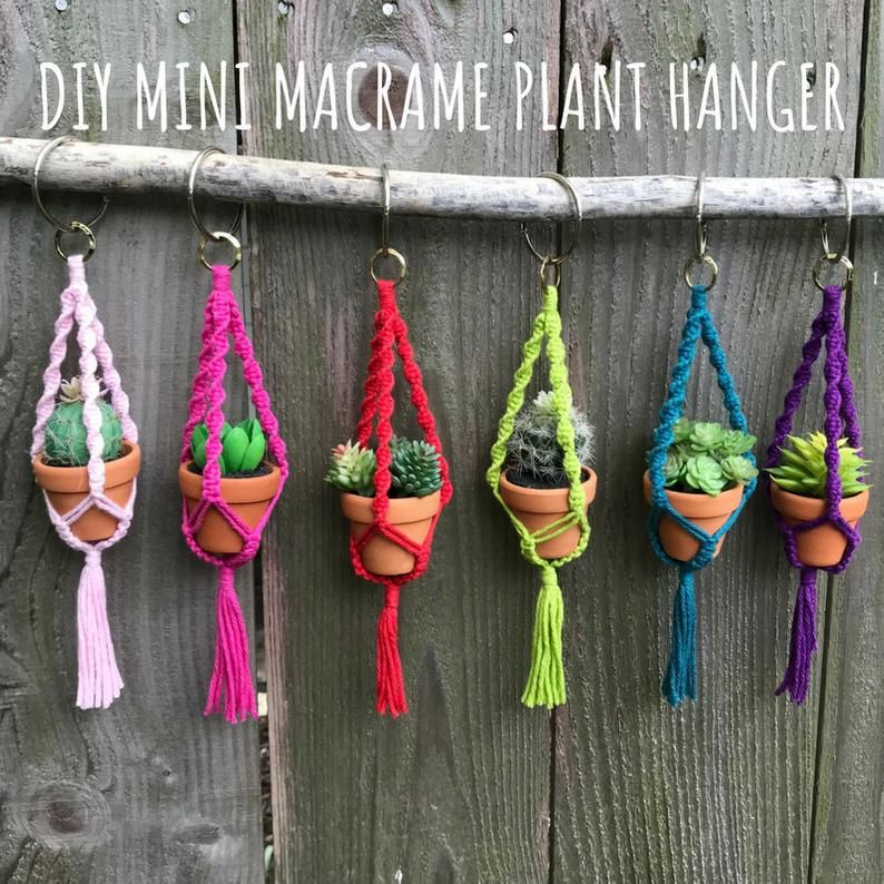 Diy macrame mini plant hanger pattern pdf instructions