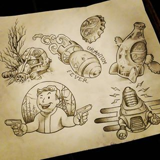 fallout tattoo flash - Google Search