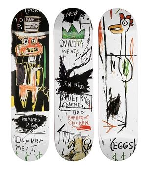 Jean Michel Basquiat Set Of 3 Skateboards Skateboard Jean Michel Basquiat Basquiat