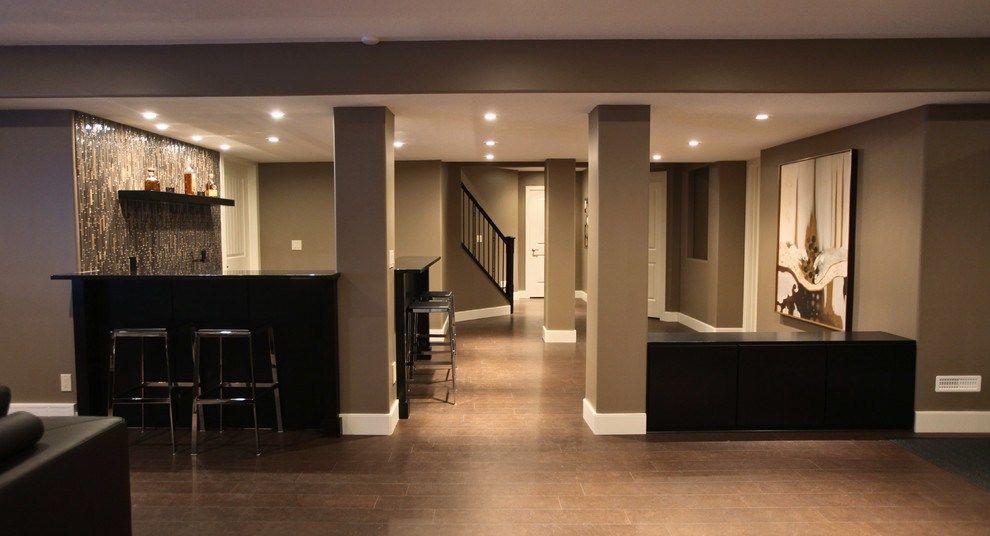 Marvelous Cork Floors Decorating Ideas For Basement Modern Design
