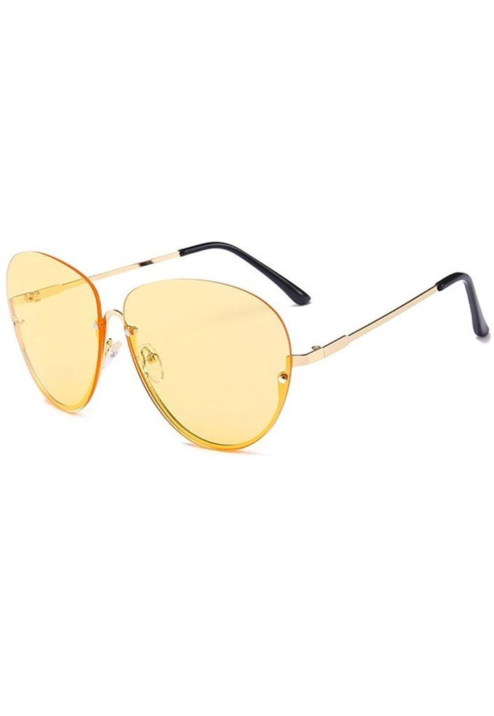 2485607ac9 Rocky Oversized Aviator Sunglasses - Yellow – TWOTHREE - SHOP ONLINE HERE -  . . . .  RETRO  VINTAGE  90s  style  inspiration  oversized  yellow  shades  ...