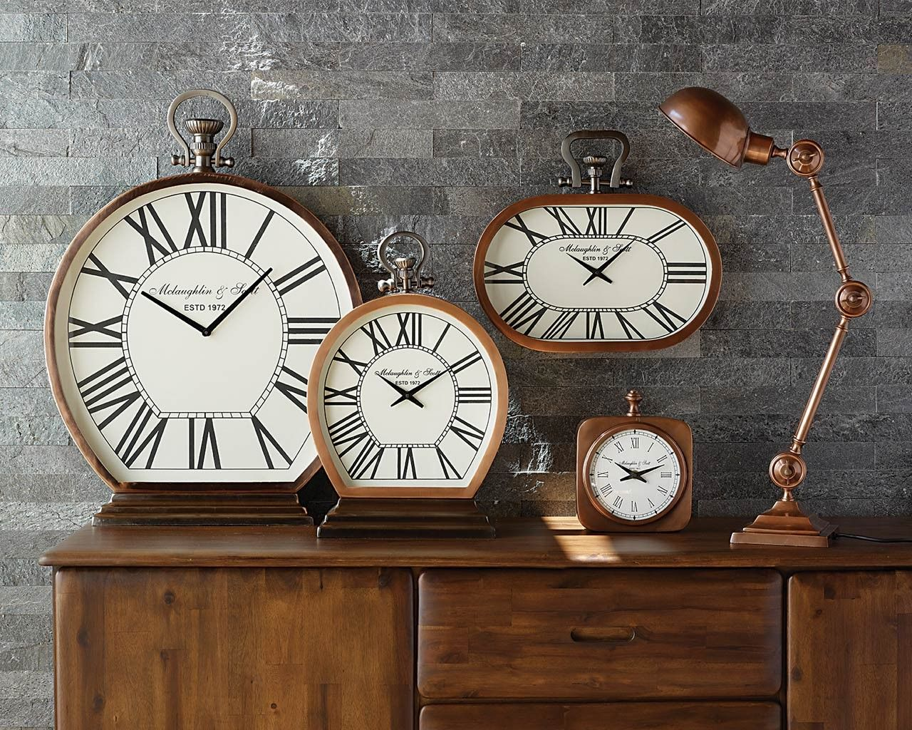 stylist and luxury giant clocks. Cambridge Copper Mantel Clock  What time is it Funky Clocks For
