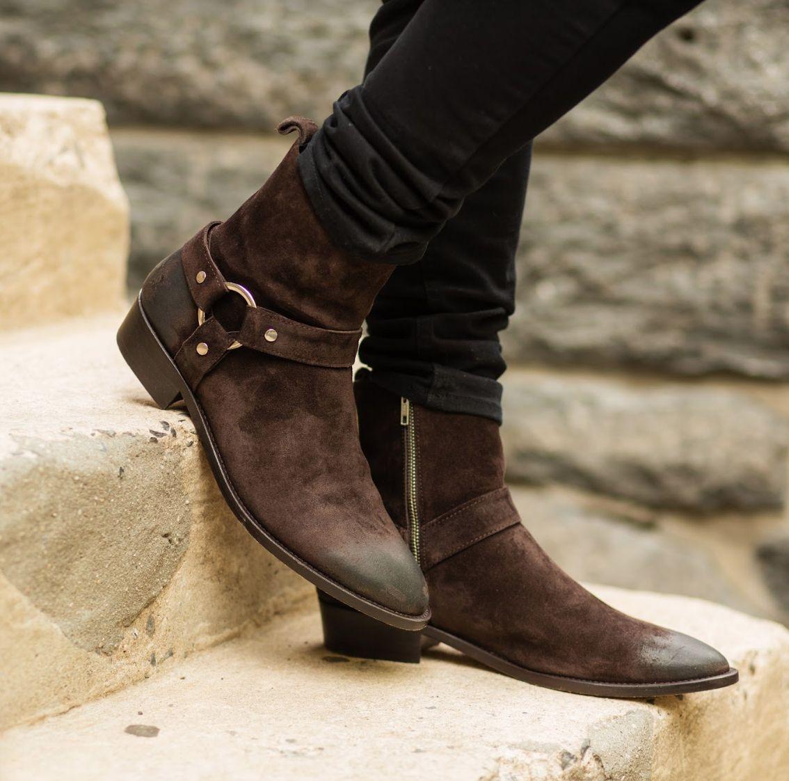 Dark Brown Suede | Boots, Mens