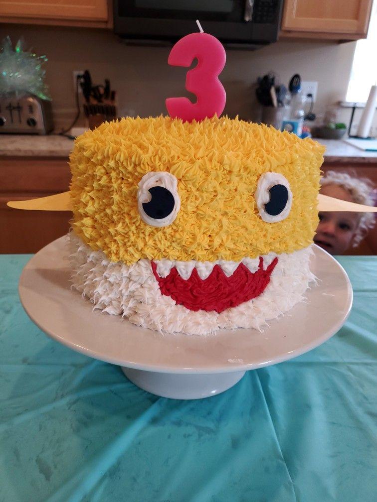 Baby shark cake shark cake birthday cake cake