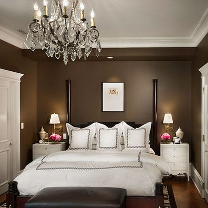 White brown bedroom | Interior Design Ideas.