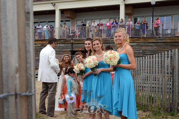 Ocean City MD Beach Wedding Ceremony At Dunes Manor Hotel By Rox Weddings