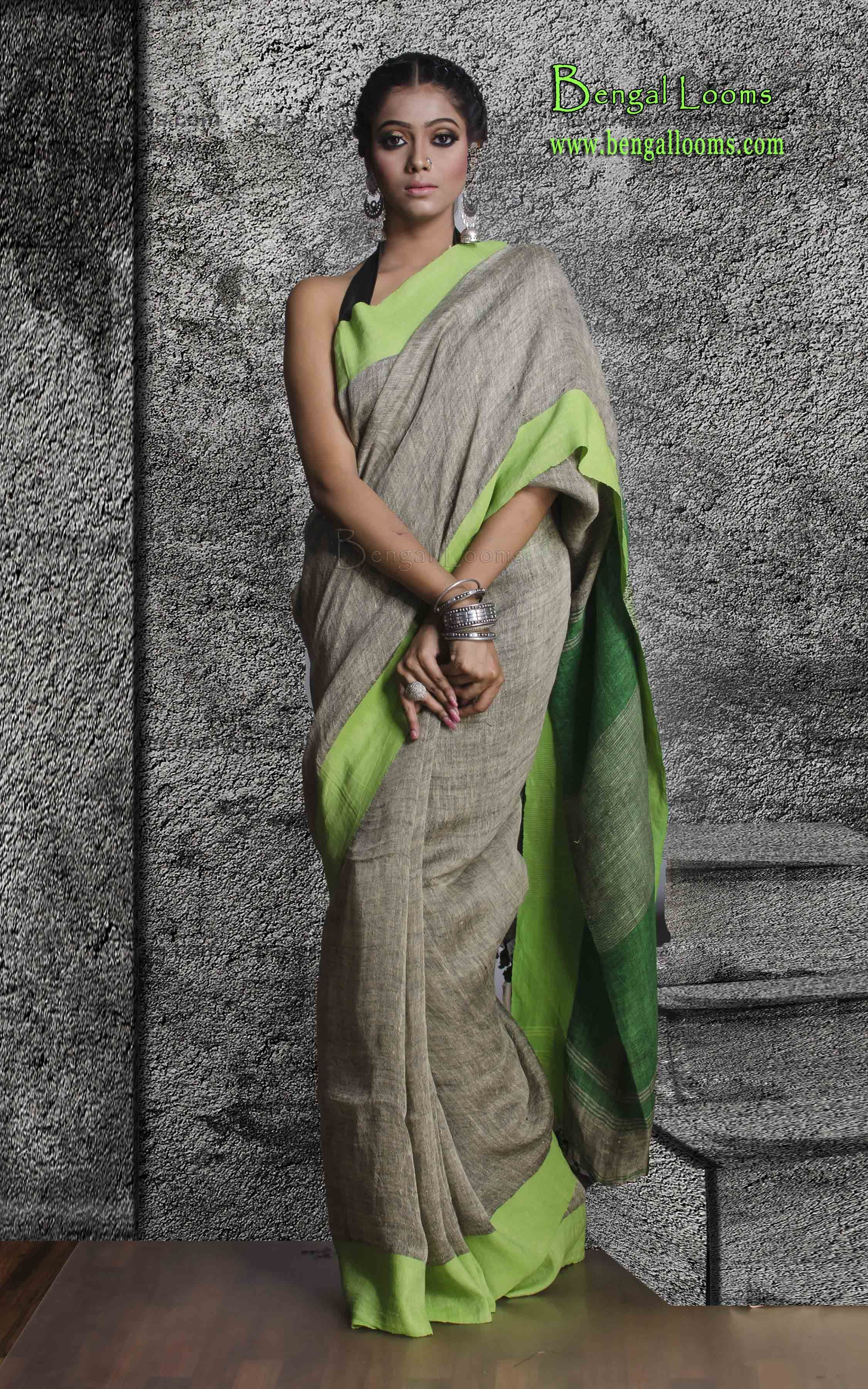 Clothing, Shoes & Accessories Alert New Designer Stripes Saree Indian Sarees Linen Printed Partywear Sari Always Buy Good Women's Clothing