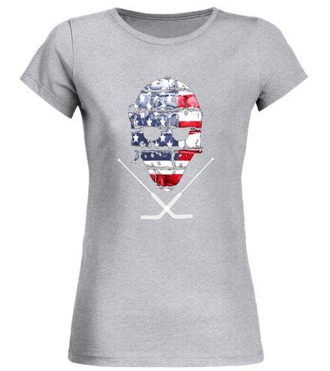 new concept 6e1bf a6ad0 American Hockey Goalie T-Shirt Patriotic Hockey Tee hockey ...