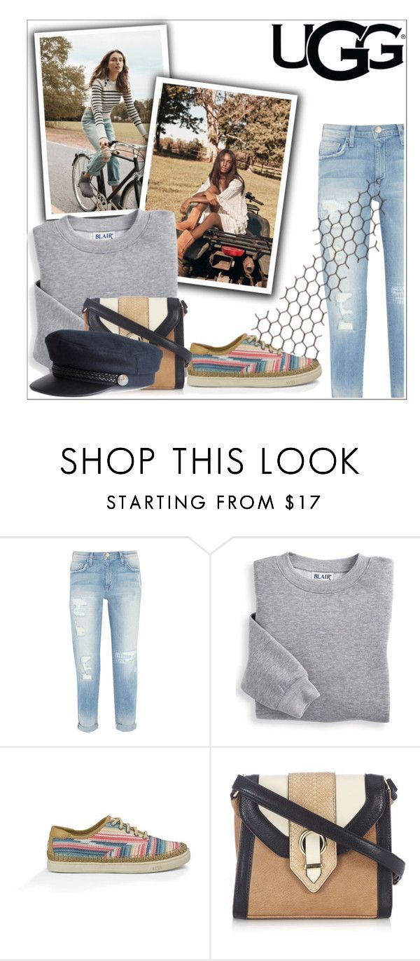 """Play With Prints In UGG: Contest Entry"" by aria-star ❤ liked on Polyvore featuring UGG Australia, Current/Elliott, Blair, Wallis, H&M and thisisugg"