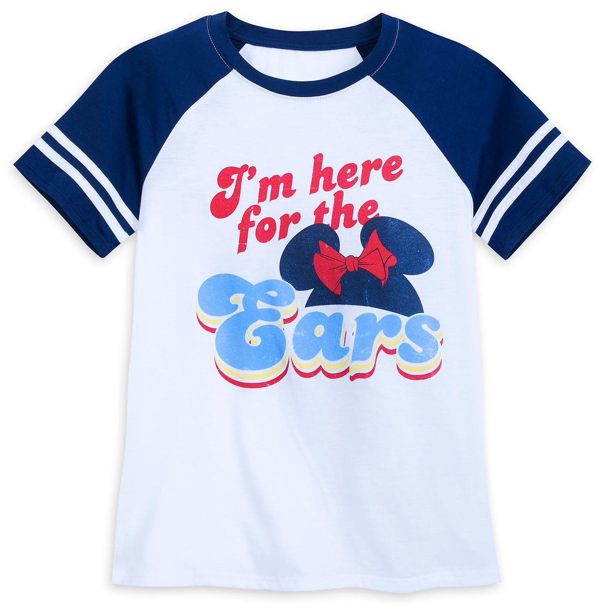 87002602e Minnie Mouse ''I'm here for the Ears'' Football T-Shirt for Women in ...