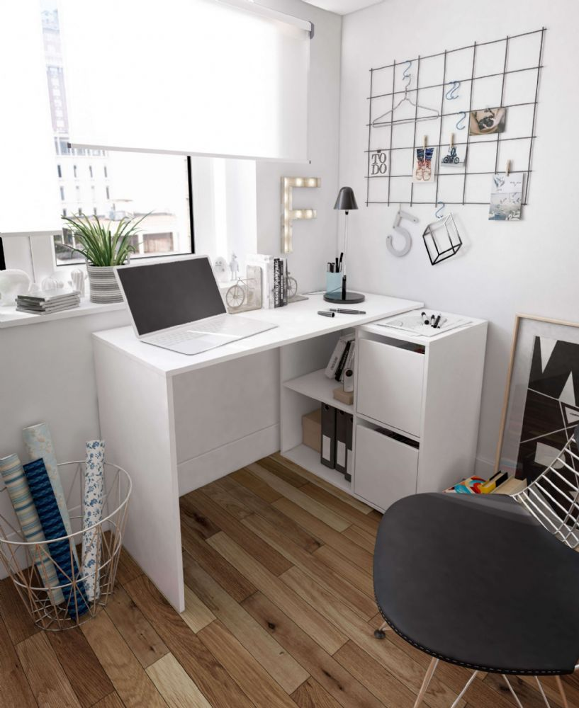 Carla Small L Shaped Corner Computer Desk White Furniture Factor Uk In 2020 Modern Corner Desk White Corner Desk Desks For Small Spaces