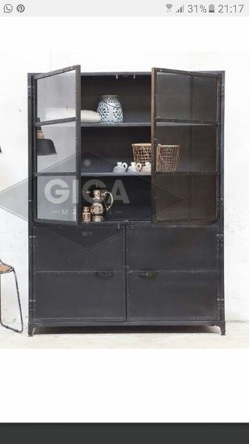 Industriele Kast Zwart.Industriele Kast Giga Meubel Wonen Living Room Furniture En