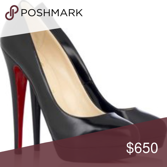 Classic matte black Louboutin heels