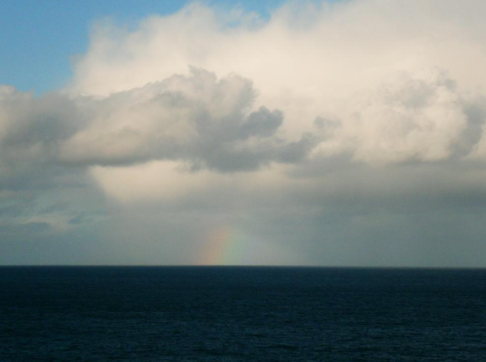 Irish skies storm clouds and rainbows County Antrim