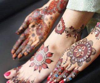 Mehndi For Foot : Arabic mehndi foot & hand design henna designs