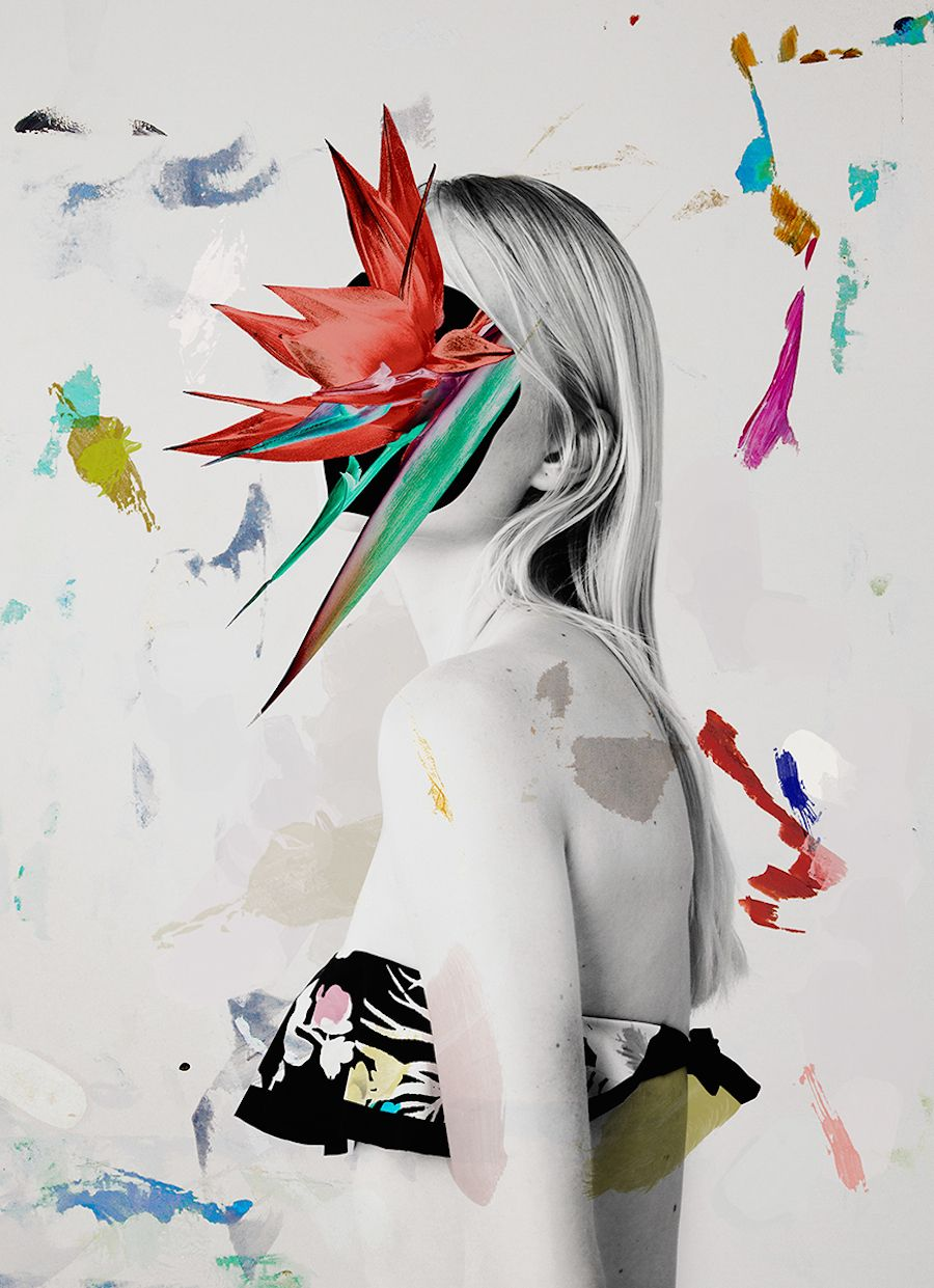 Gorgeous floral mixedmedia collages by ernesto artillo collage