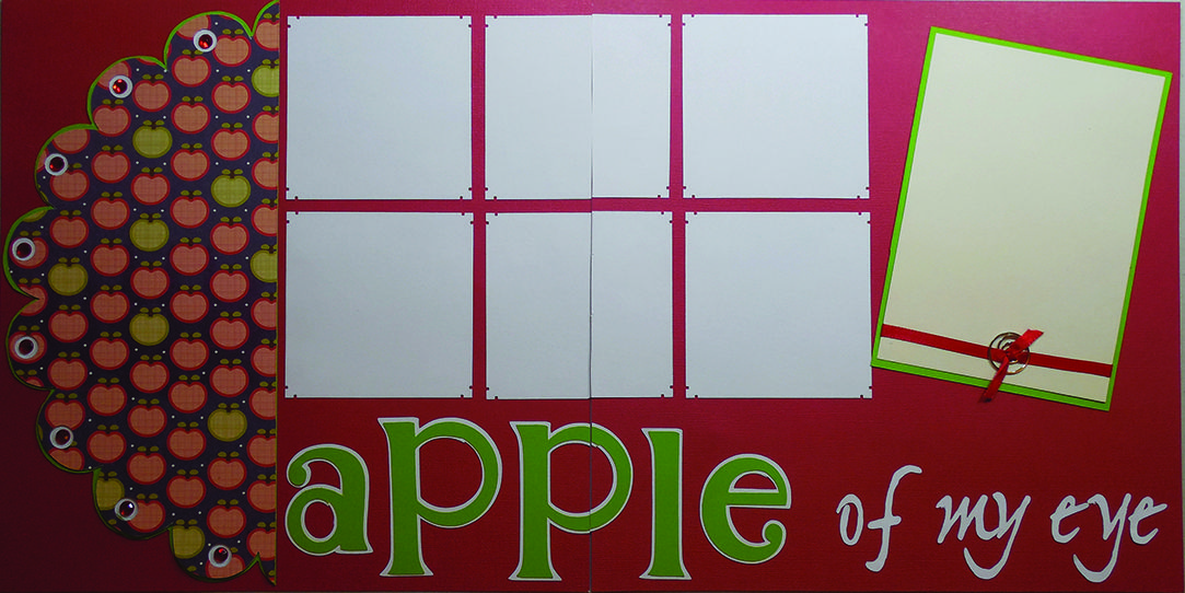 Who's the apple of your eye?  www.sugarandspicescrapbooks.com