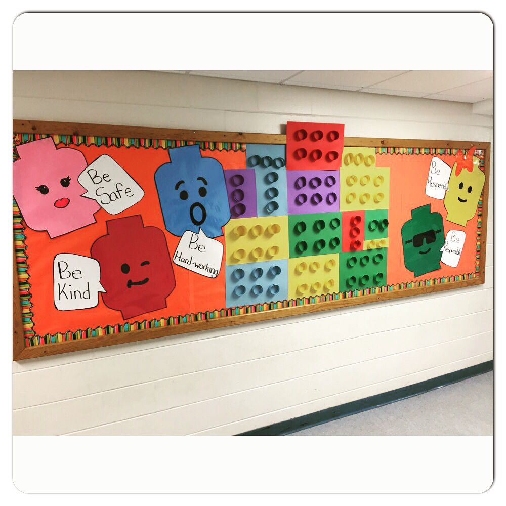 Lego bulletin board for Construction themed classroom ...
