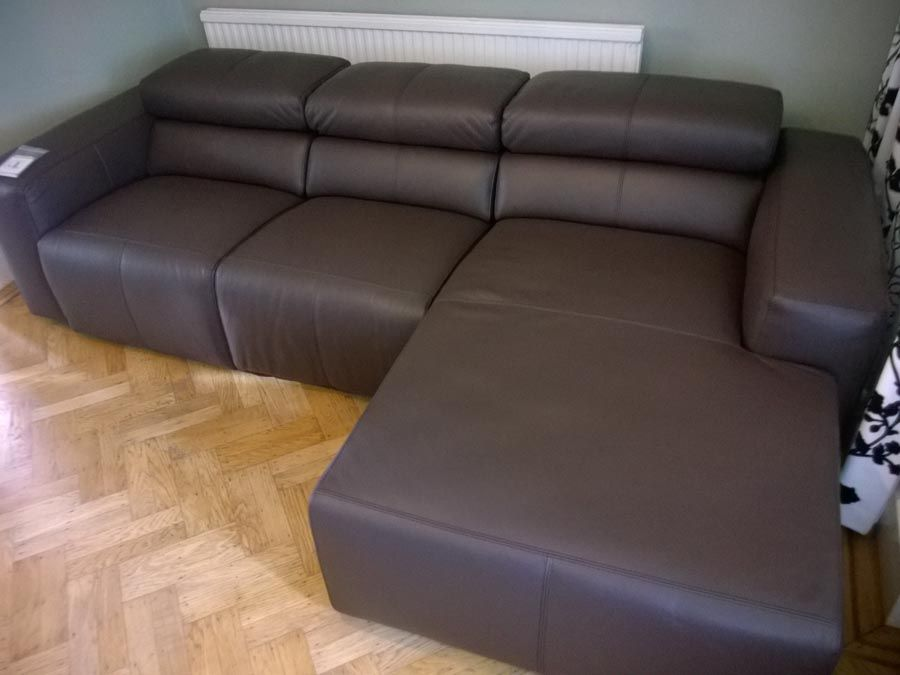 Binari Sofa And Chaise In Leather. Sofa Features 2x Reclining Seats And  Adjustable Headrests.
