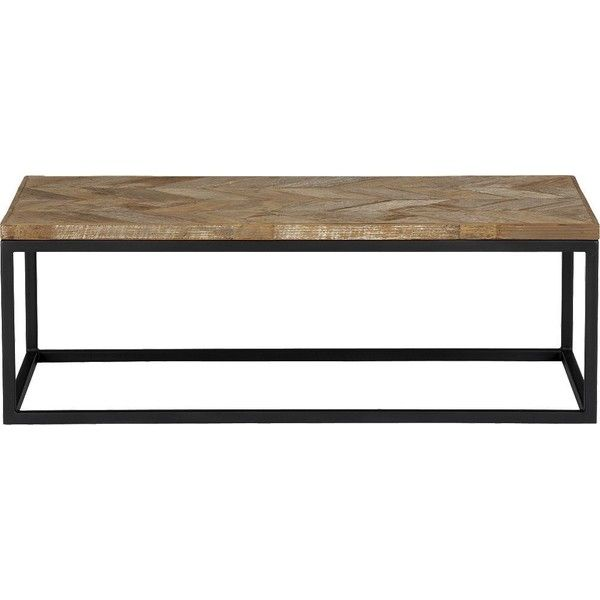 Crate & Barrel Dixon Coffee Table ($499) ❤ liked on Polyvore featuring home, furniture, tables, accent tables, crate and barrel table, marquetry table, marquetry furniture, chevron furniture und inlaid table