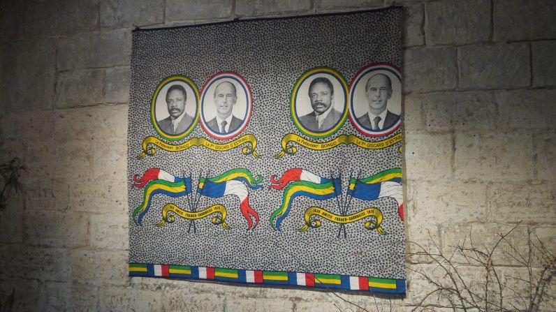 Omar Bongo et Giscard du0027Estaing Exposition « Pagnes de Campagne