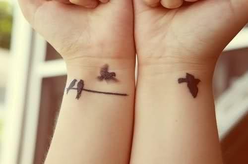 wrist tattoos birds