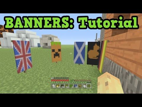 Minecraft Xbox 360 Ps3 Banner Tutorial Tu43 Banner Designs Youtube Minecraft Banner Designs Minecraft Banners Minecraft Tutorial