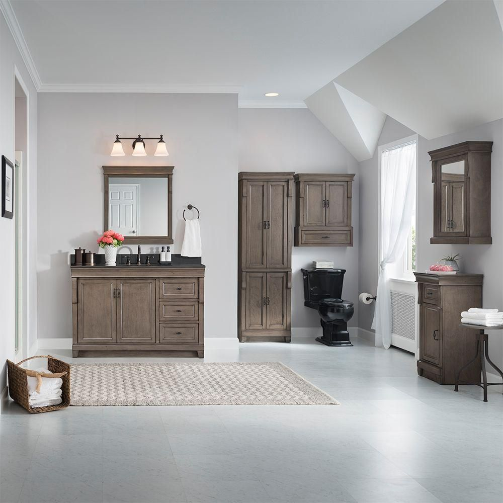 Home Decorators Collection Naples 48 In W Vanity Cabinet Only In Distressed Grey Nadga4821d The Home Depo Home Bathroom Vanities Without Tops 60 Inch Vanity
