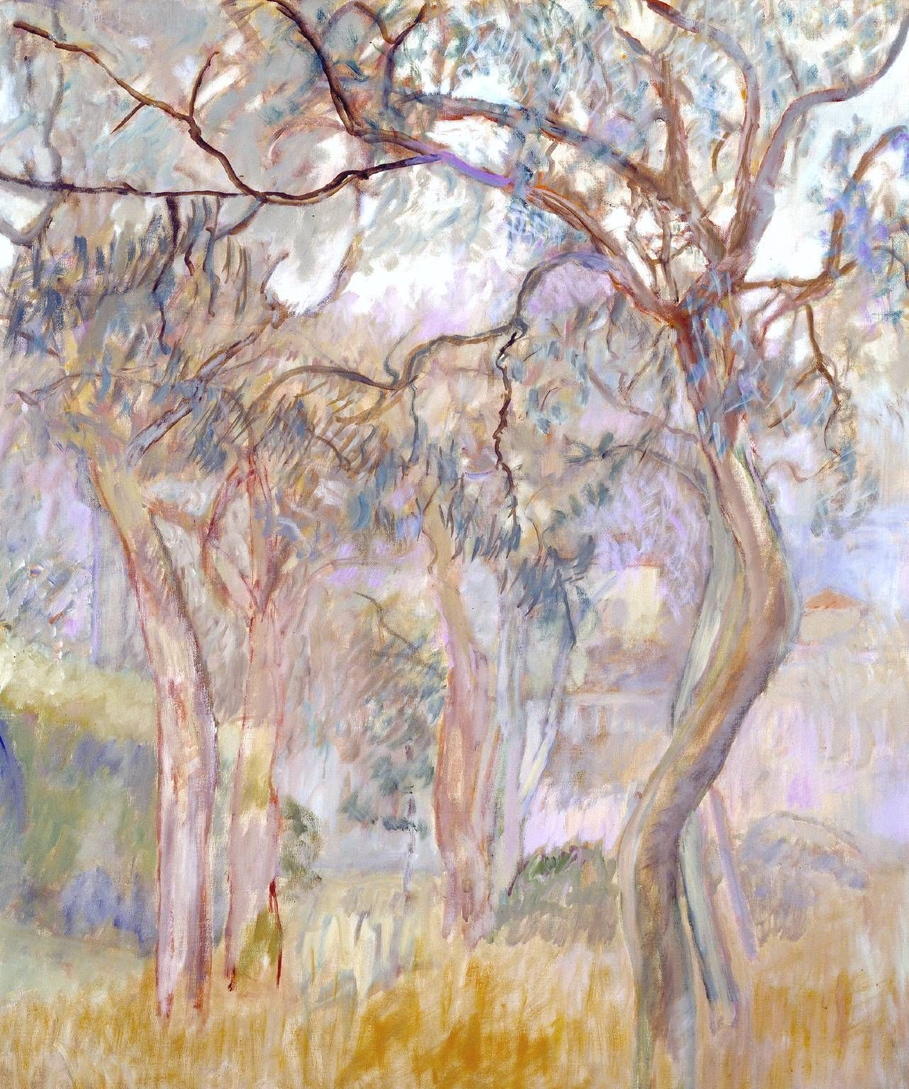 Adrian Stokes. 'Olive Trees'. Oil on canvas. 1958.