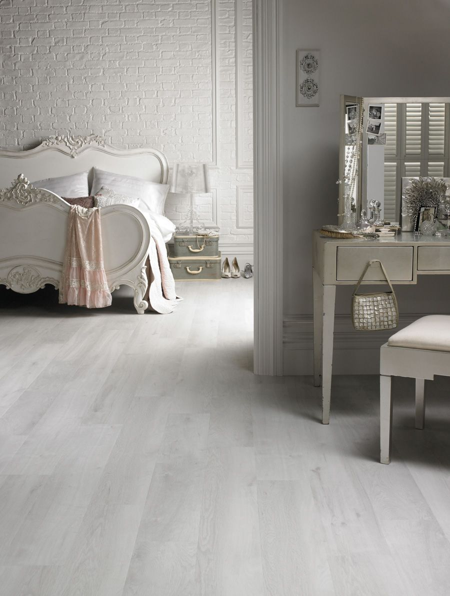Washed Wood White Floor White Laminate Flooring Grey