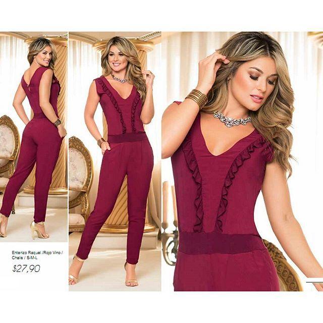 Reposting @bluebells_ec hermosa !! enterizo Tallas S M L color rojo vino #fashion #styles # ...