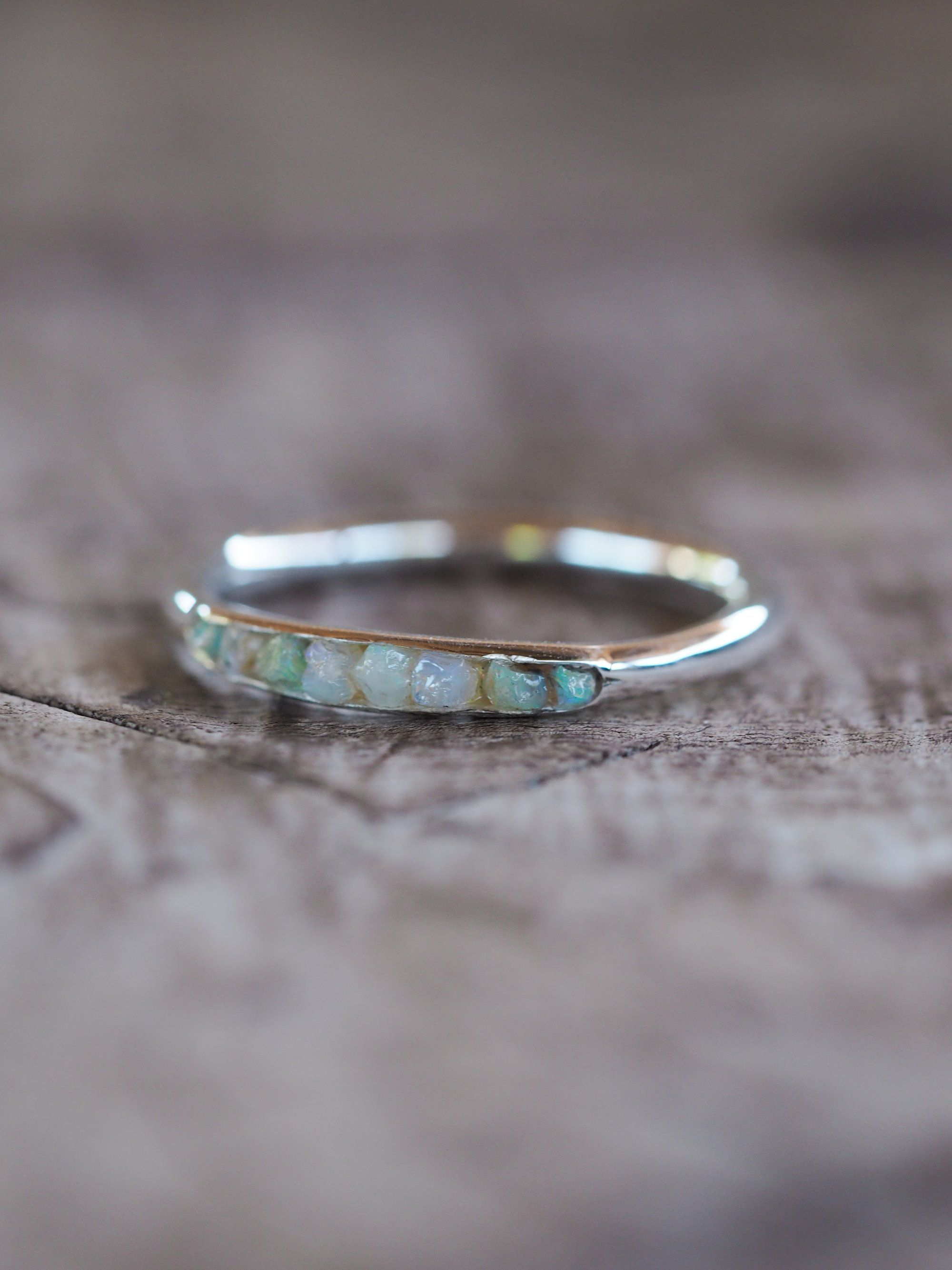 3a5969777f1f0 Fossil Opal Ring with Hidden Gems in 2019 | Gardens of the Sun ...