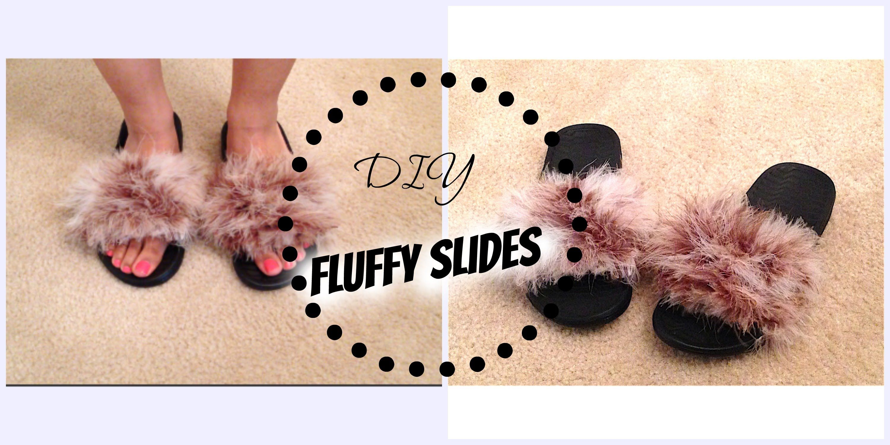 5637bf432e1 How to  Fur Slippers-Alyssa Forever Inspired Fluffy Slides - YouTube ...