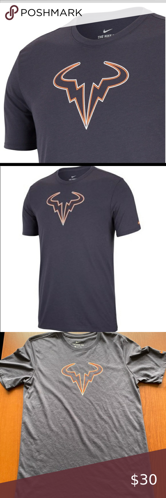 Nike Rafa Nadal Tee Bull Tennis Small New Tees Nike Nike Shirts
