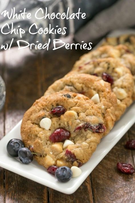 White Chocolate Chip Cookies with Dried Berries | Recipe