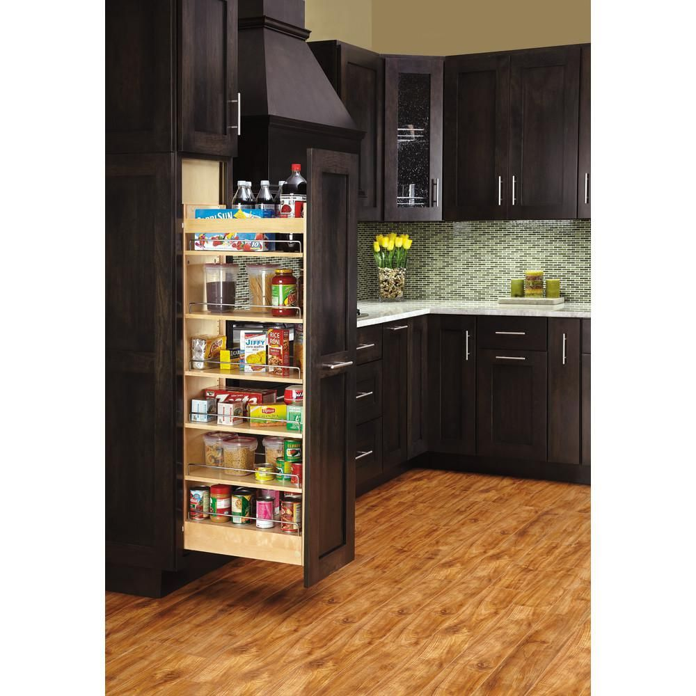 Rev A Shelf 59 25 In H X 11 In W X 22 In D Pull Out Wood Tall Cabinet Pantry 448 Tp58 11 1 The Home Kitchen Remodel Small Kitchen Design Kitchen Remodel