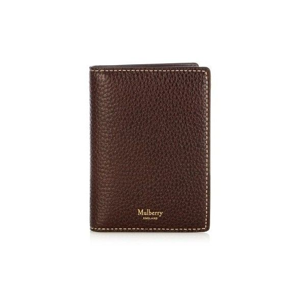 fb24076121 Mulberry Bi-fold leather wallet ($120) ❤ liked on Polyvore featuring men's  fashion
