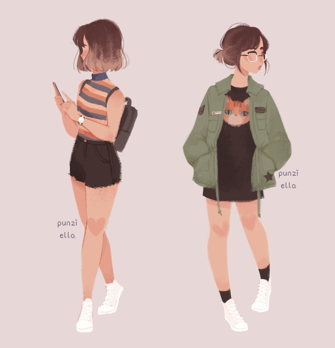 Character Design Inspiration Tumblr : Pauline punziella twitter drawings pinterest