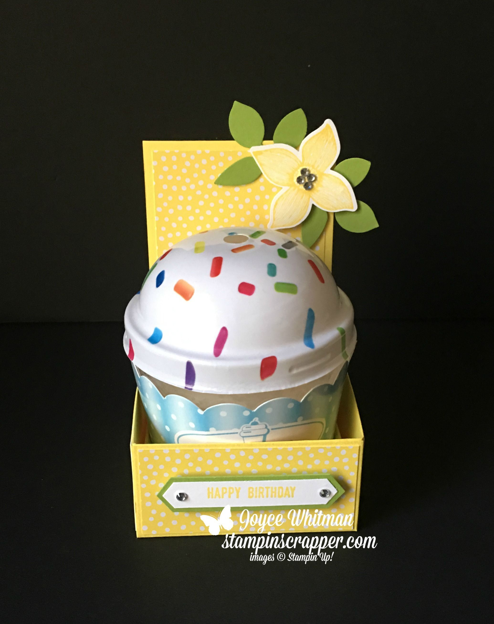 I Found This Adorable Birthday Candles At The Dollar Tree And Knew Had To Make A Holder For It Used Stampin Up Pineapple Punch Cardstock Along