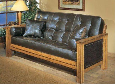 Bradley S Furniture Etc Rustic Log And Barnwood Futons Futonsofaapartmenttherapy Futonsofalivingroom