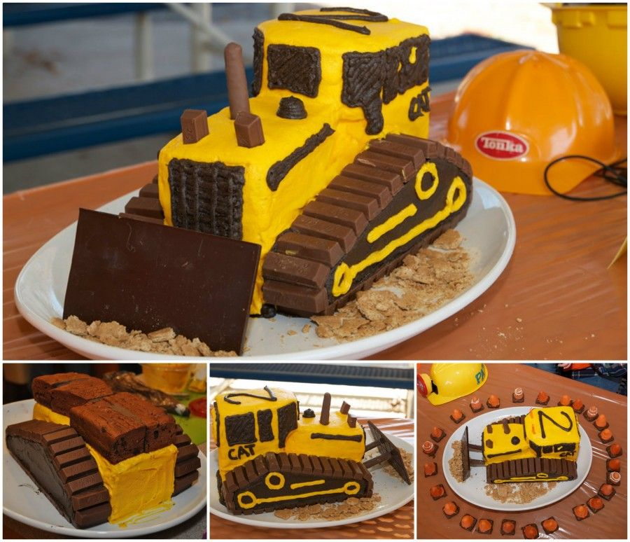 Stupendous Construction Cake Ideas Very Easy Video Instructions With Images Personalised Birthday Cards Beptaeletsinfo
