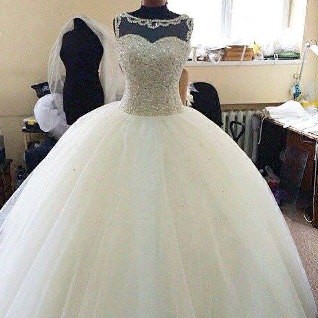 Vestiti Da Sposa Luccicanti.Abito Da Principessa Wedding Matrimonio Abito Sposa Brillanti