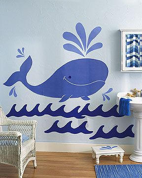 Wallies Whimsical Whale Wall Decal (Set Of 3)