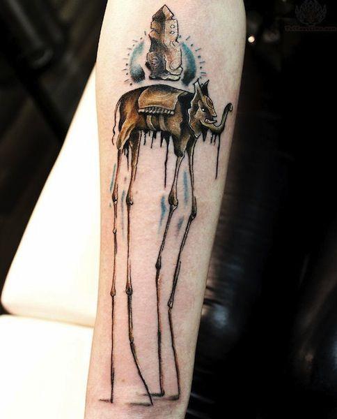 salvador dali tattoos unique elephant design for arm inked up pinterest salvador dali. Black Bedroom Furniture Sets. Home Design Ideas
