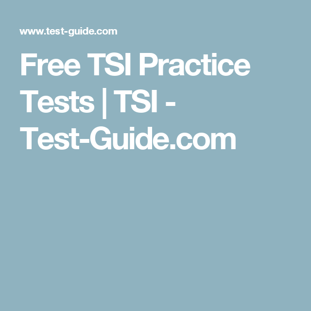 picture about Printable Tsi Practice Test known as Absolutely free TSI Educate Assessments TSI -  Faculty