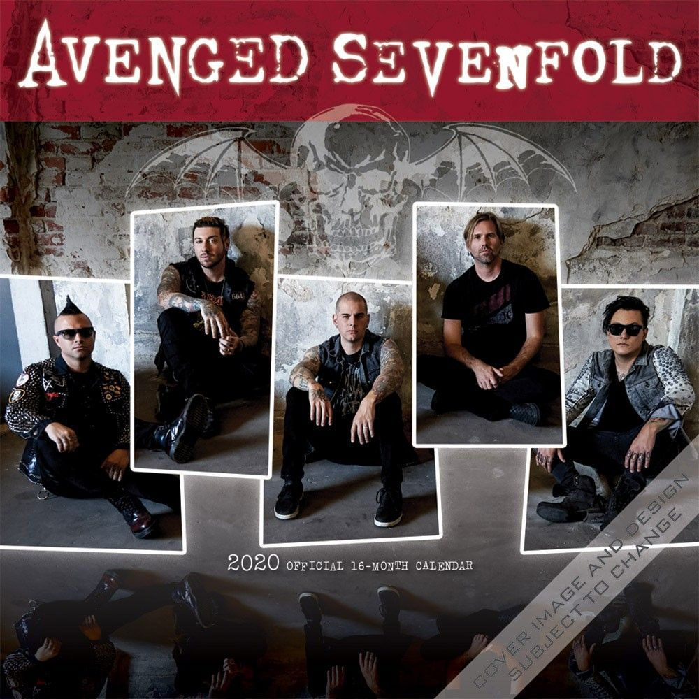 Avenged Sevenfold Tour 2020.Avenged Sevenfold 2020 12 X 12 Inch Monthly Square Wall