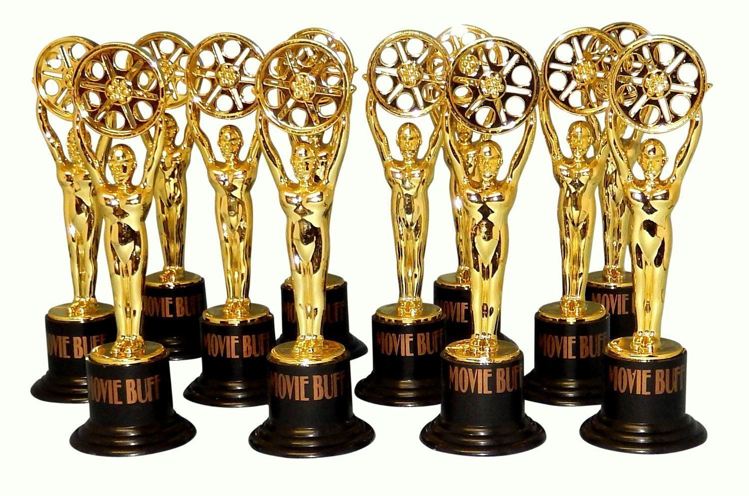 6 HOLLYWOOD PARTY MOVIE FILM SHOOTING STAR AWARD TROPHY PROM TABLE DECORATION