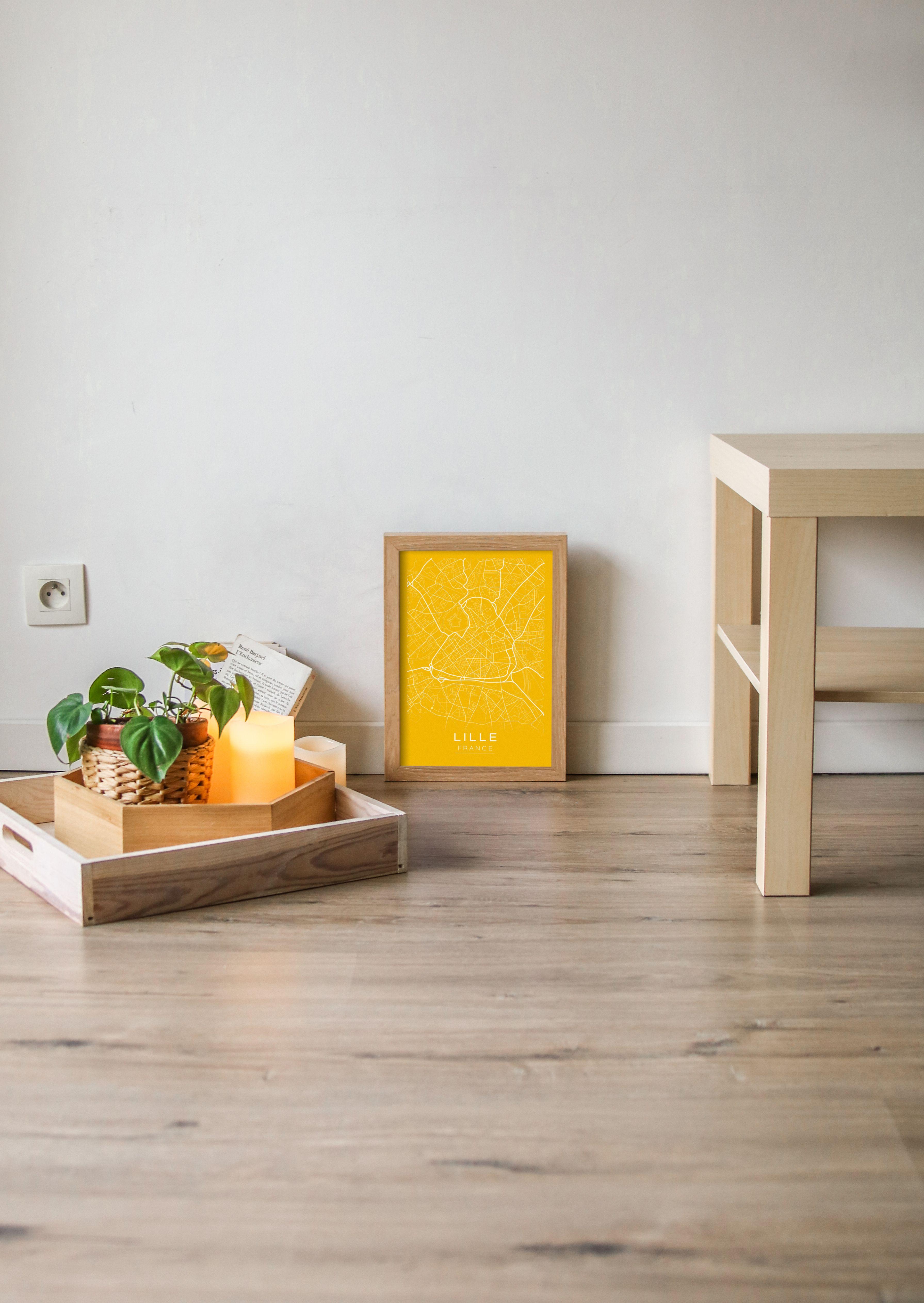 Affiche Lille Map A4 Couleur Au Choix Etsy Coffee Table Home Decor Decor